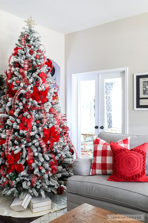 Red And White Christmas Tree Decorations Ideas.86 Best Christmas Tree Decorating Ideas How To Decorate A