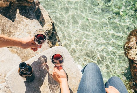 Chilled red wine for summer