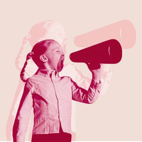 Megaphone, Pink, Microphone, Illustration, Audio equipment, Magenta, Hair dryer, Shout,