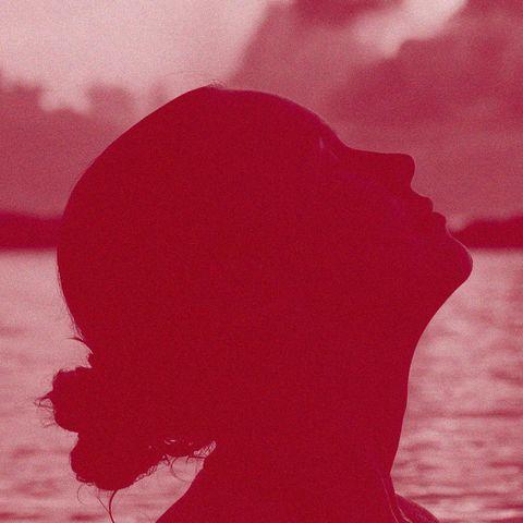 Red, Pink, Silhouette, Sky, Cloud, Magenta, Illustration, Art,
