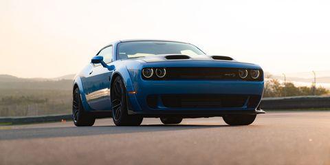 Land vehicle, Vehicle, Car, Automotive design, Muscle car, Blue, Performance car, Sports car, Dodge challenger, Rim,