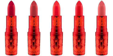 Red, Orange, Lipstick, Cosmetics, Beauty, Lip, Material property, Coquelicot, Tints and shades, Liquid,