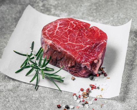 Dish, Food, Red meat, Flat iron steak, Cuisine, Rib eye steak, Beef, Beef tenderloin, Venison, Steak,