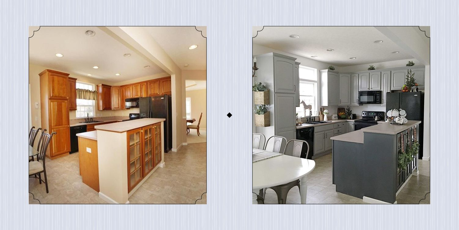 15 Diy Kitchen Cabinet Makeovers, Kitchen Cabinets Makeover Cost