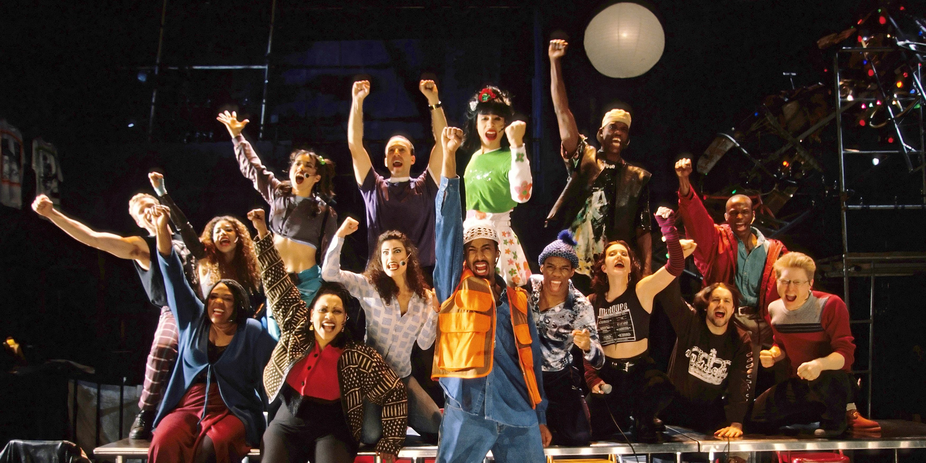 """The original cast of """"Rent"""" at New York Theater Workshop, in New York."""