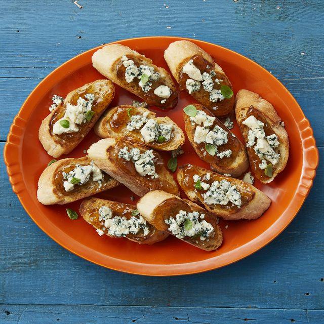 fig and blue cheese bruschetta