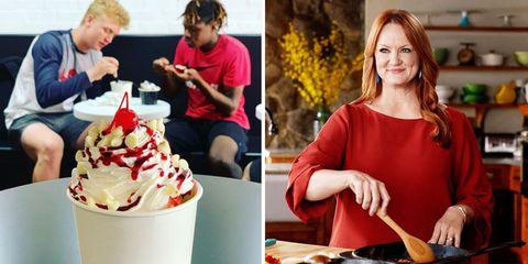 Food, Gelato, Ice cream, Frozen dessert, Dessert, Frozen yogurt, Cuisine, Soft Serve Ice Creams, Sundae, Dairy,