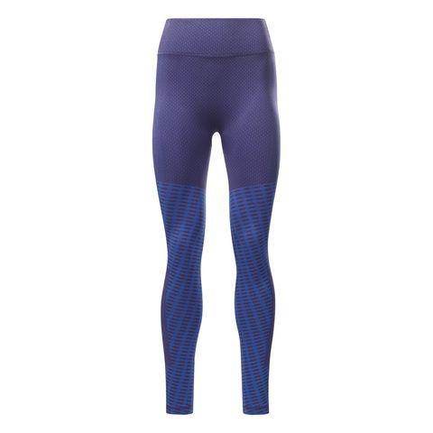reebok seamless legging paars dames naadloos hardloopkleding broek