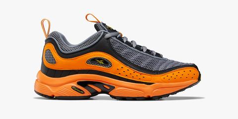 Shoe, Footwear, Running shoe, Outdoor shoe, Orange, Athletic shoe, Walking shoe, Cross training shoe, Sportswear, Yellow,