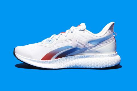 Shoe, Footwear, Outdoor shoe, White, Sneakers, Blue, Walking shoe, Running shoe, Cobalt blue, Electric blue,