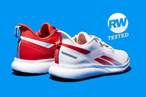 Shoe, Footwear, Walking shoe, White, Blue, Outdoor shoe, Sneakers, Carmine, Product, Athletic shoe,