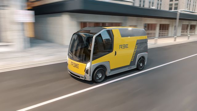 ree automotive delivery vehicle concept