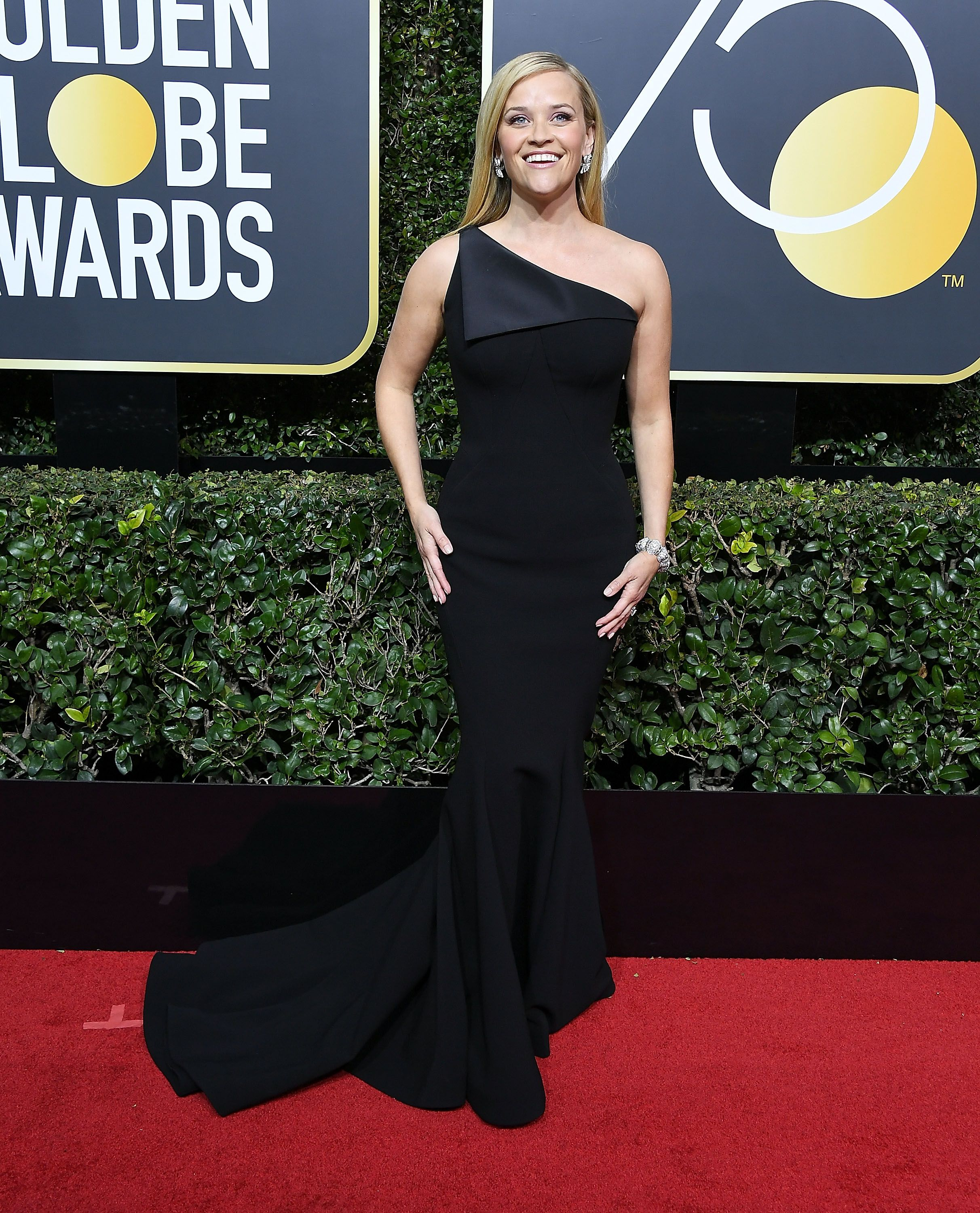 Witherspoon picked a simple one-shouldered Zac Posen gown for the 2018 Golden Globe Awards, striking the perfect understated, yet elegant note.
