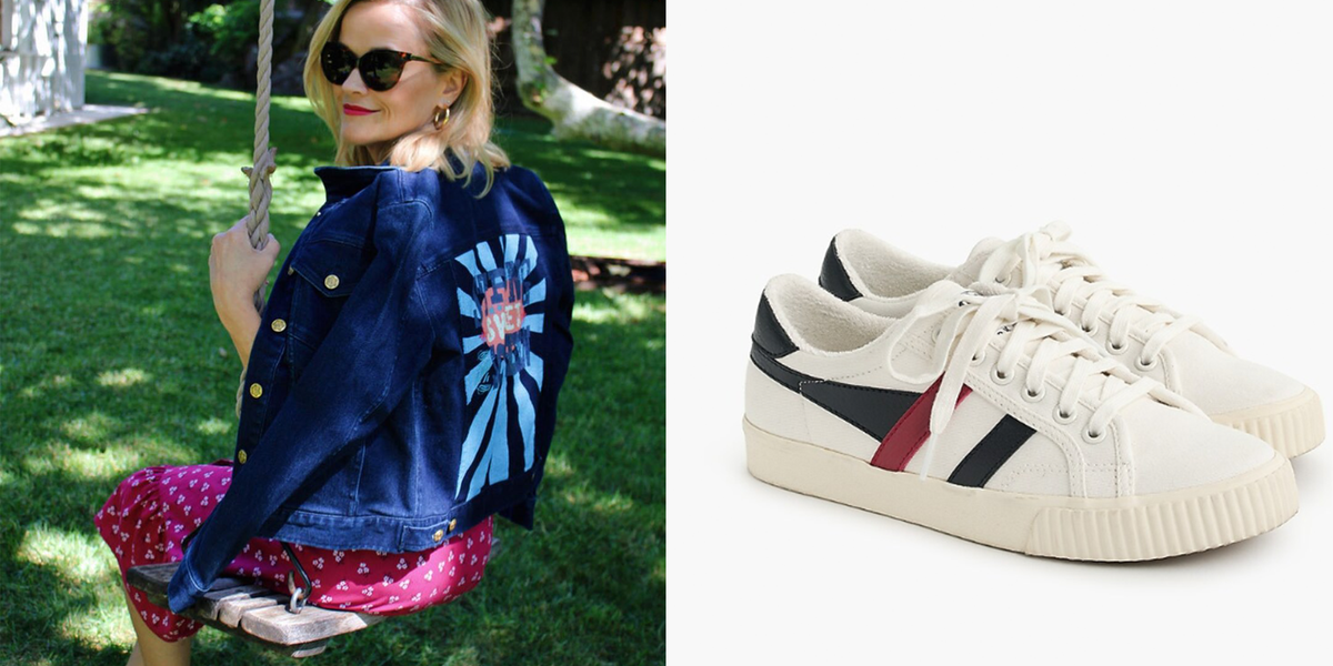 You Can Get Reese Witherspoon's Comfy White Sneakers for $65 at J.Crew