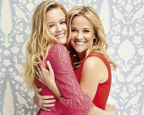 Hair, Facial expression, Blond, Smile, Friendship, Beauty, Fun, Hairstyle, Happy, Pink,