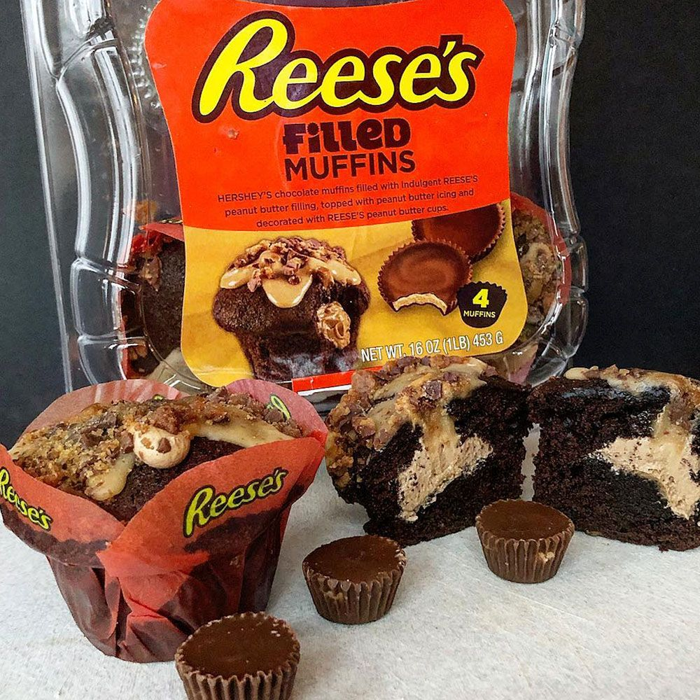 These Reese's Muffins Are Stuffed AND Topped With Peanut Butter Filling and Icing