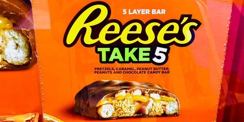 Reese's Is Launching a 5-Layer Bar That's Packed With Pretzels, Caramel, and Peanuts