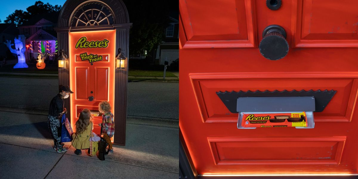 Reese's Is Sending Out Trick-Or-Treat Doors Full Of Free Candy For A Socially Distant Halloween Treat
