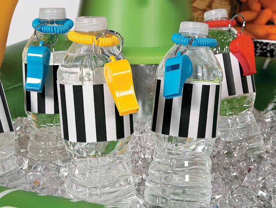 18 ICE CREAM PARTY FAVORS WATER BOTTLE LABELS glossy paper