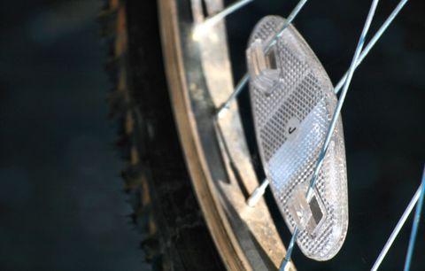 A bike reflector.