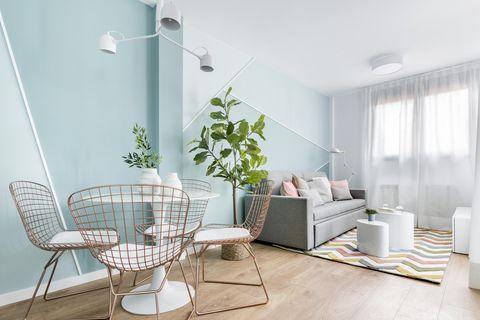 Apartamento de alquiler turístico con decoración inspirada en Mondrian