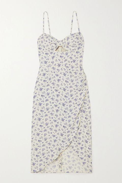 《艾蜜莉在巴黎emily in paris》lily collins相似款碎花洋裝