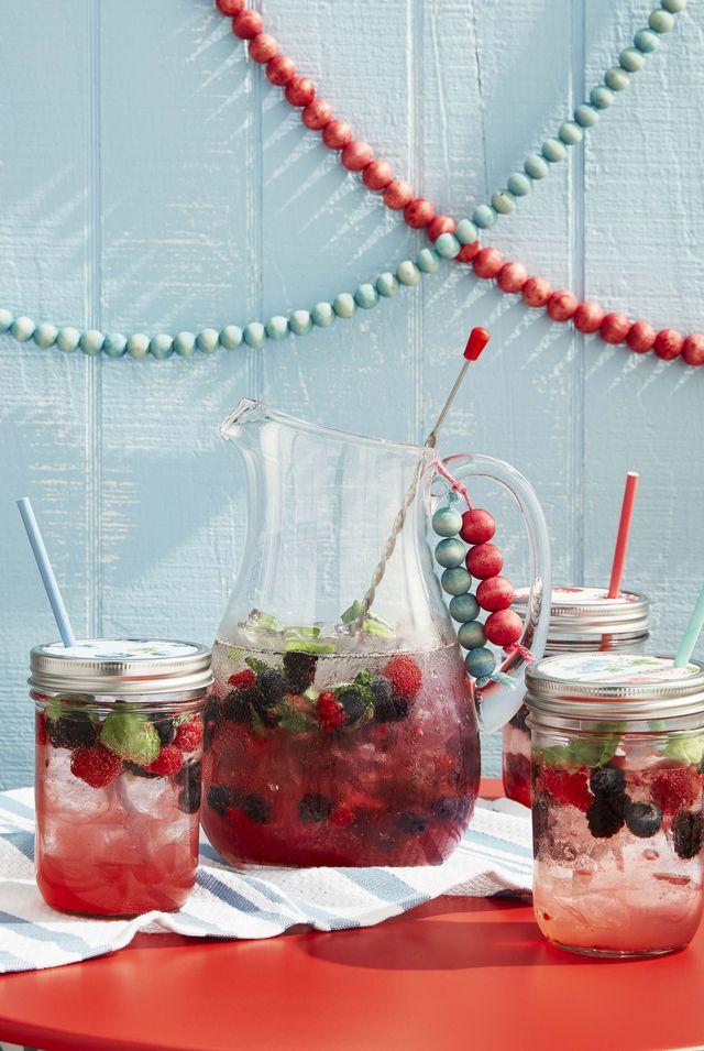 refreshing berry spritzer beverage