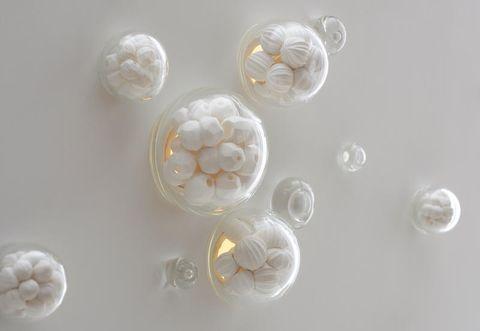 White, Natural material, Circle, Ivory, Silver, Macro photography,