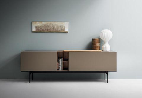 Wood, Room, Wall, Interior design, Grey, Rectangle, Beige, Drawer, Nightstand, Lamp,