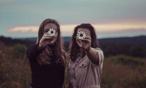Hair, Photograph, Sky, Head, Beauty, Grass, Brown, Photography, Fun, Human,