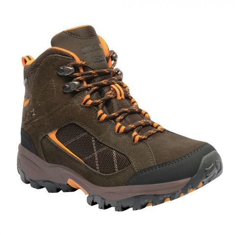 Regatta women's Clydebank Mid Hiking Boots Aztec Brown Zinnia photo