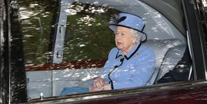 Queen Elizabeth II attends church