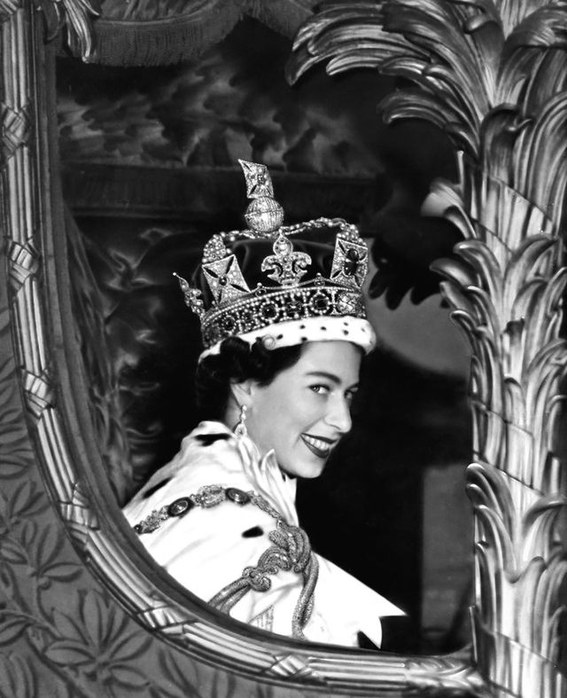 queen elizabeth ii, who succeeded her father king george vi on february 6, 1952, after her coronation ceremony in westminster abbey, london   photo by pa images via getty images
