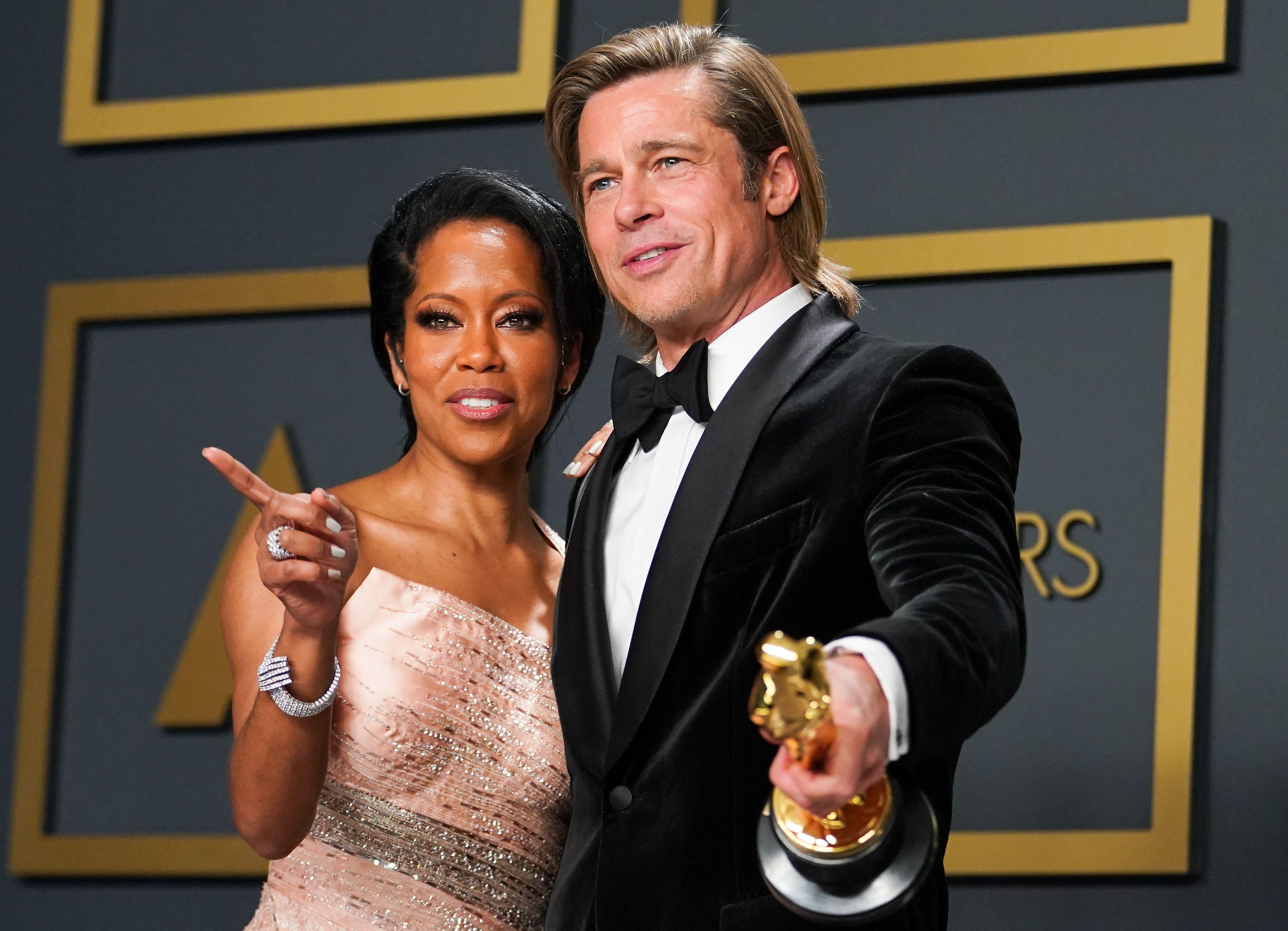 See Pictures Of Brad Pitt And Regina King At The 2020 Oscars