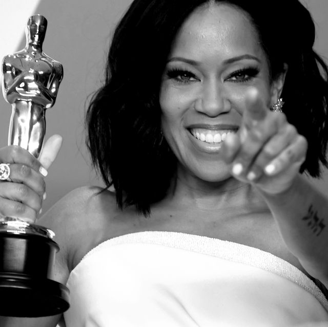 hollywood, california   february 24  editors note image converted to black and white regina king, winner of best supporting actress for if beale street could talk poses in the press room during the 91st annual academy awards at hollywood and highland on february 24, 2019 in hollywood, california photo by frazer harrisongetty images