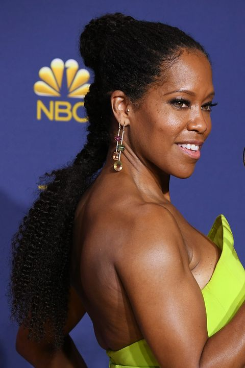 Best Natural Hairstyles: Regina King Emmys Hair