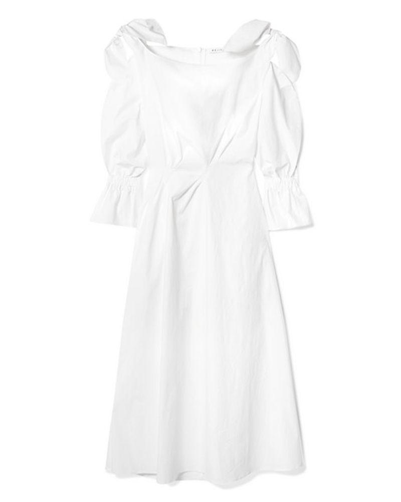 regina yo white midi dress