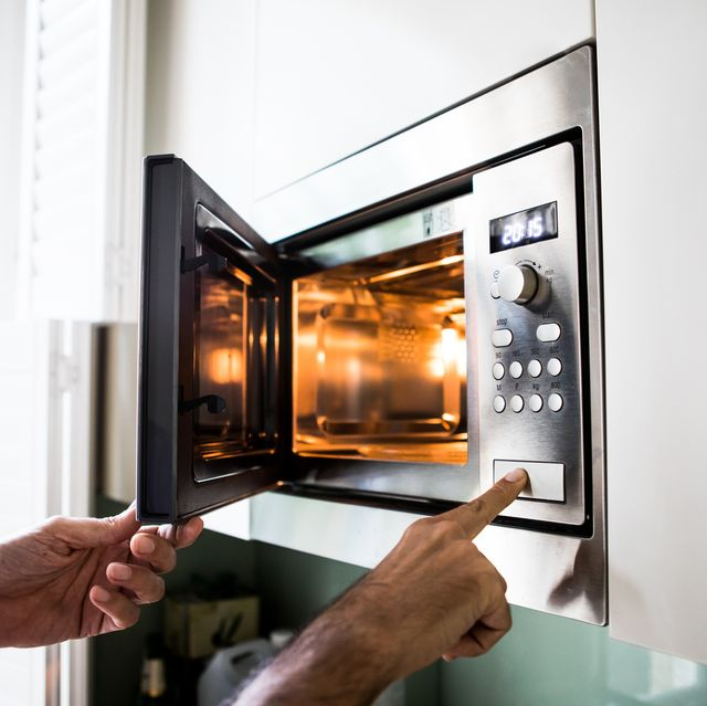 reheating  cooking food in the microwave oven