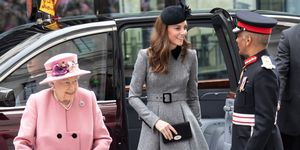 Kate Middleton y la reina Isabel II