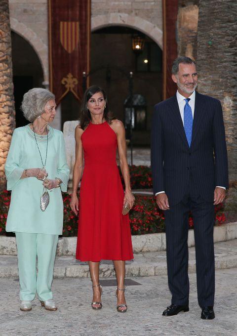 La reina Sofía y la reina Letizia en Palma de Mallorca.