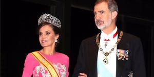 Reina Letizia, Rey Felipe VI, Reyes de España, Palacio Imperial de Japón, ceremonia de Entronización del Emperador Naruhito, Emperador Naruhito