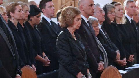 la reina sofía acude al funeral de marie de liechtenstein