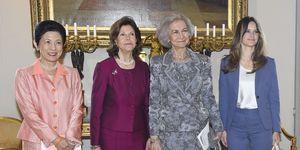 Reina Sofía reunión Palacio Real de Estocolmo