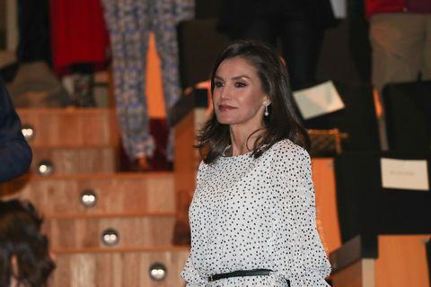La Reina Letizia con lunares en el 50 aniversario del Parque Doñana
