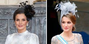 Letizia, la reina del tocado y los sombreros