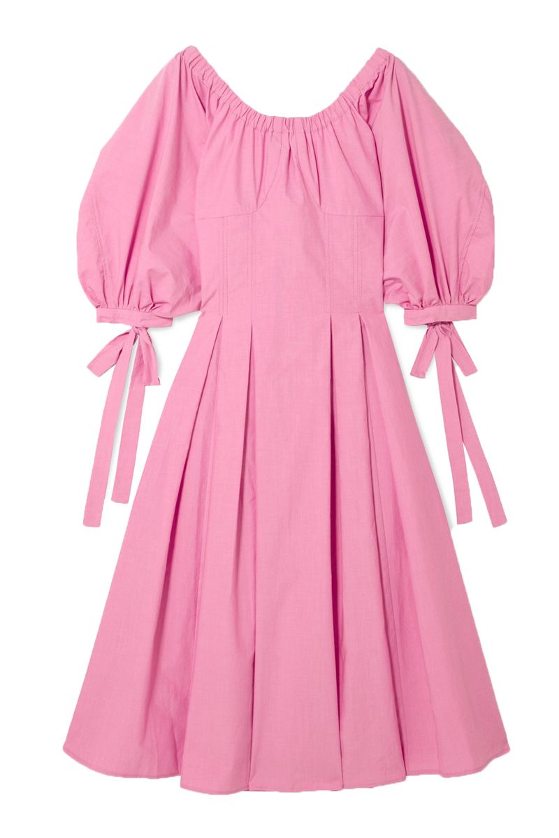 Rejina Pyo pink greta bow dress