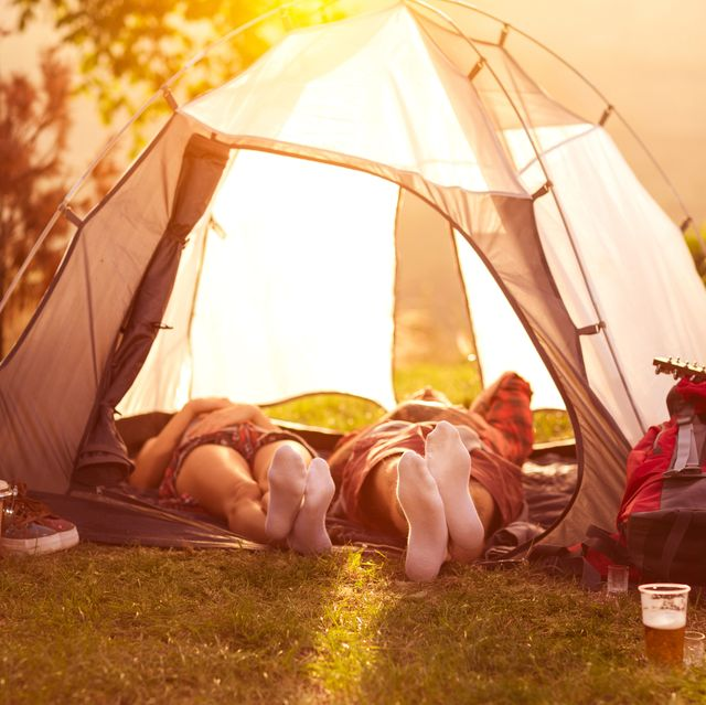 Relax in campsite after hard day