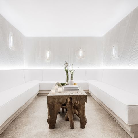 White, Room, Interior design, Property, Furniture, Architecture, Table, Bathroom, Building, House,