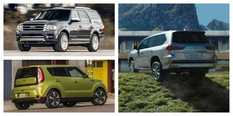 most reliable suvs collage