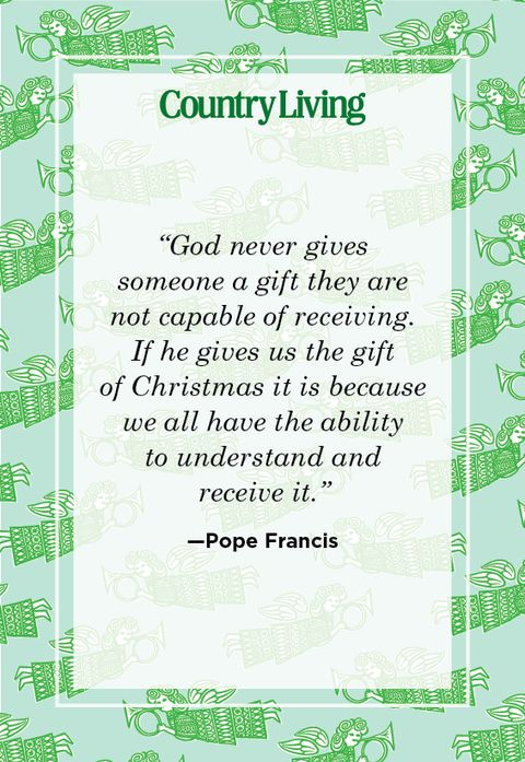 religious quote about christmas from pope francis